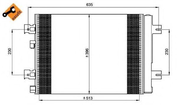 Радиатор кондиционера NRF 35947