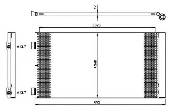 Конденсор кондиционера NRF 35961