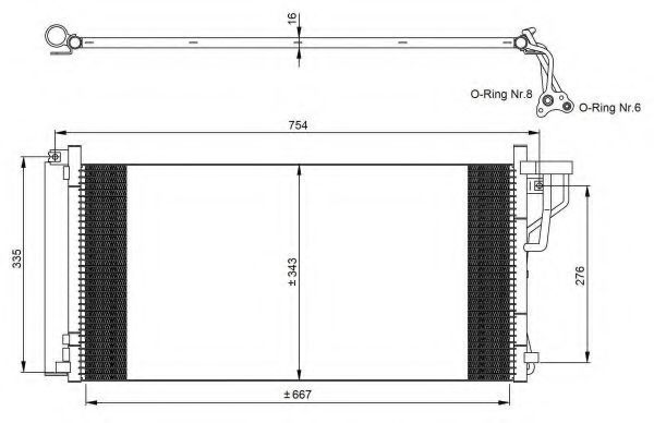 Радиатор кондиционера NRF 35962