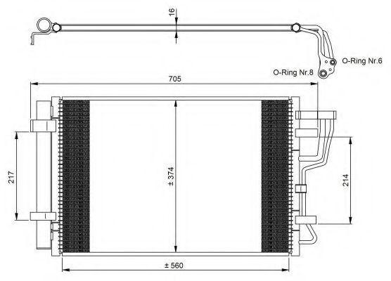 Радиатор кондиционера NRF 35963