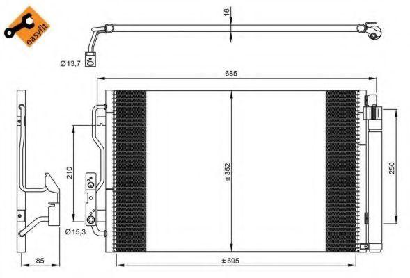 Радиатор кондиционера NRF 35970