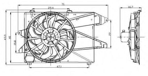 Прокладка клапанной крышки NRF 47002