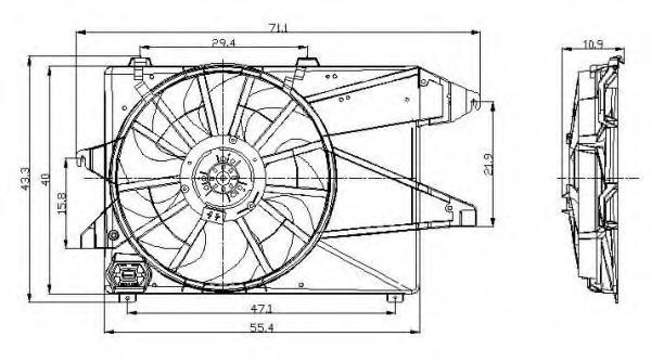 Вентилятор охлаждения двигателя NRF 47004