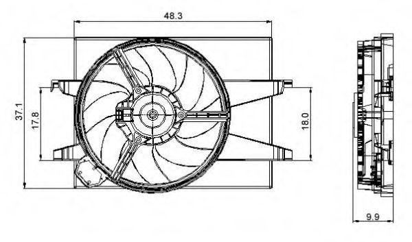 Вентилятор охлаждения двигателя NRF 47006