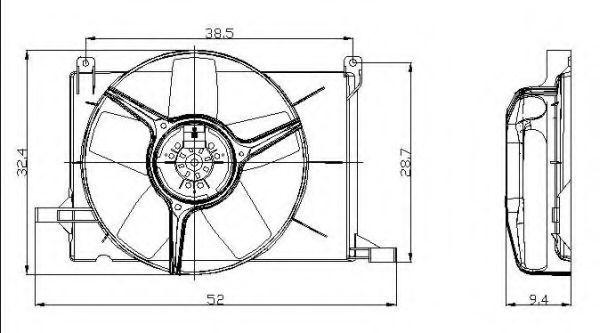 Вентилятор охлаждения двигателя NRF 47009