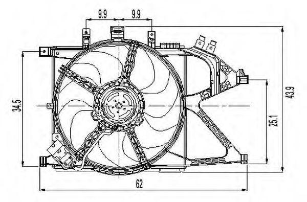 Вентилятор охлаждения двигателя NRF 47011