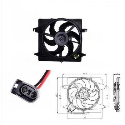 Вентилятор охлаждения двигателя NRF 47019
