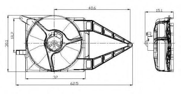 Вентилятор охлаждения двигателя NRF 47020