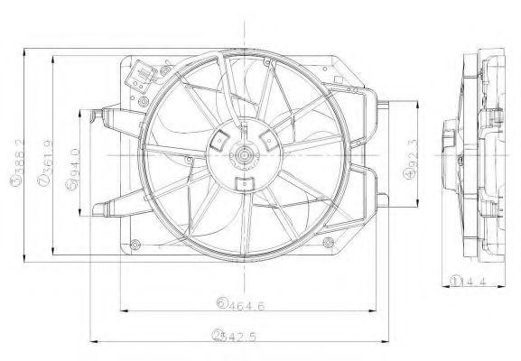 Вентилятор охлаждения двигателя NRF 47021