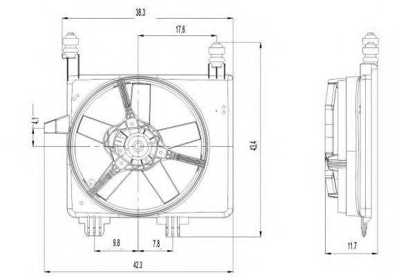 Вентилятор охлаждения двигателя NRF 47022