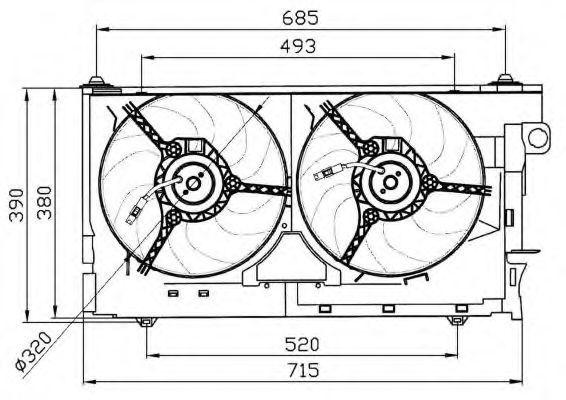 Вентилятор охлаждения двигателя NRF 47030