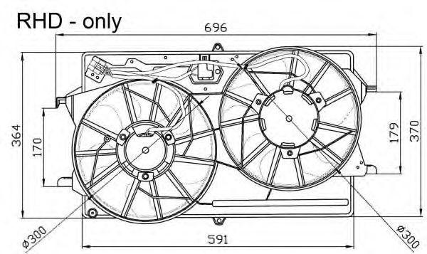Вентилятор охлаждения двигателя NRF 47033