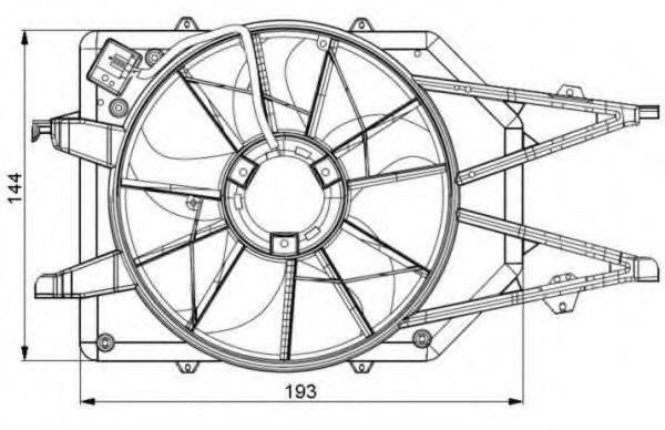 Вентилятор радиатора NRF 47034