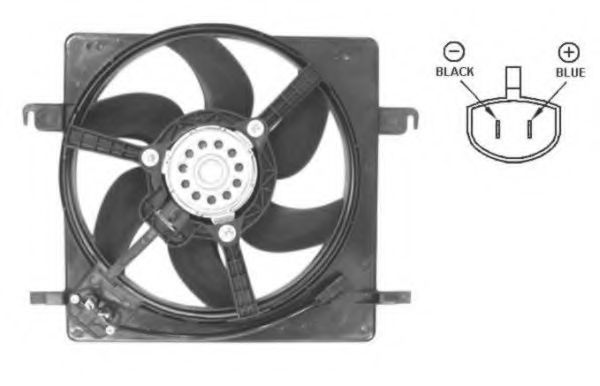 Вентилятор охлаждения двигателя NRF 47037