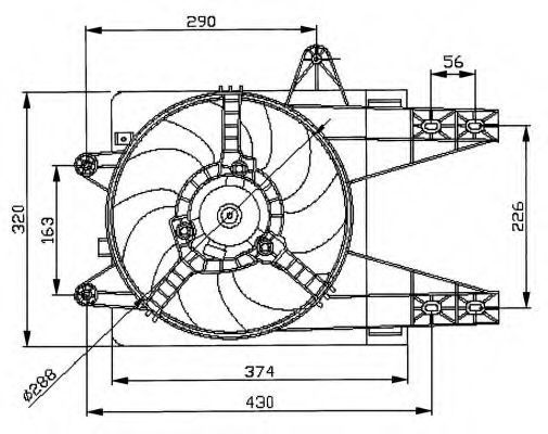 Вентилятор охлаждения двигателя NRF 47038