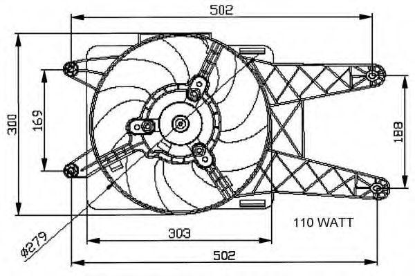 Вентилятор охлаждения двигателя NRF 47039