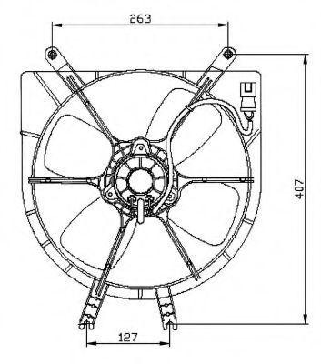 Вентилятор охлаждения двигателя NRF 47042
