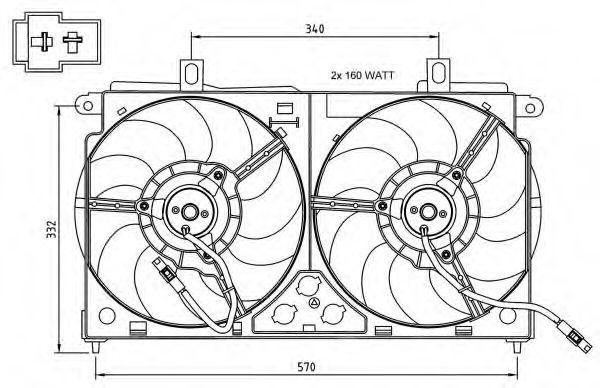 Вентилятор охлаждения двигателя NRF 47048