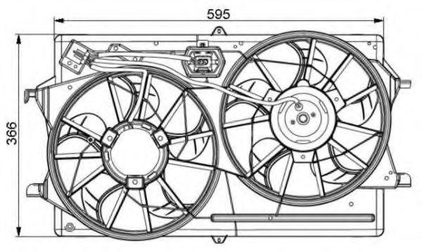 Вентилятор охлаждения двигателя NRF 47061