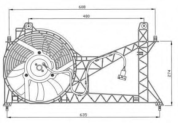Вентилятор, охлаждение двигателя NRF 47065