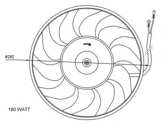 Вентилятор охлаждения двигателя NRF 47071