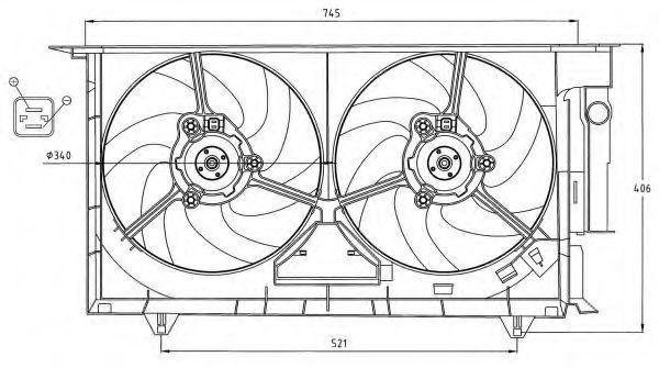 Вентилятор охлаждения двигателя NRF 47075