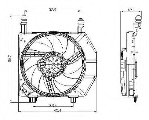 Вентилятор охлаждения двигателя NRF 47077