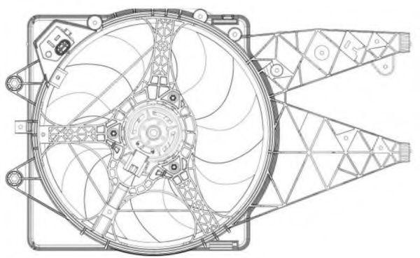 Вентилятор охлаждения двигателя NRF 47203