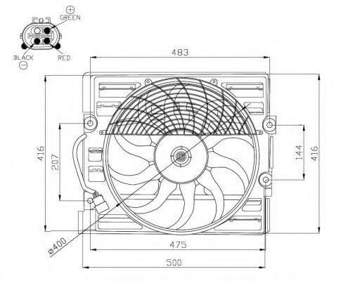 Вентилятор, охлаждение двигателя NRF 47214