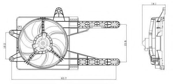 Вентилятор охлаждения двигателя NRF 47247