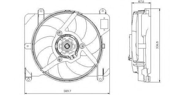 Вентилятор охлаждения двигателя NRF 47255
