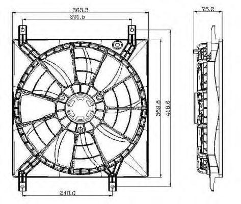 Вентилятор охлаждения двигателя NRF 47257