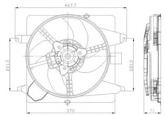 Вентилятор охлаждения двигателя NRF 47259