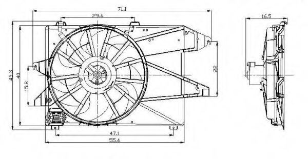 Вентилятор охлаждения двигателя NRF 47260