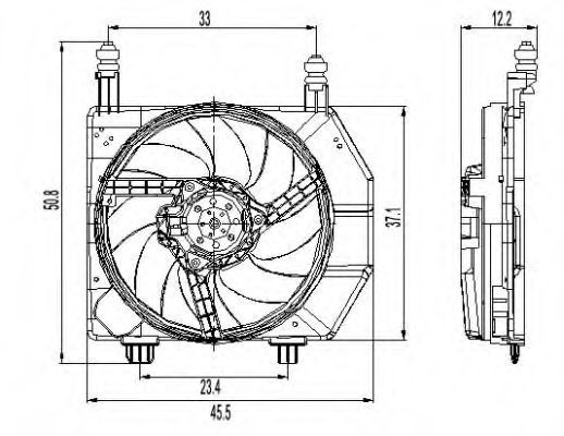Вентилятор охлаждения двигателя NRF 47261