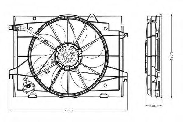 Вентилятор охлаждения двигателя NRF 47285