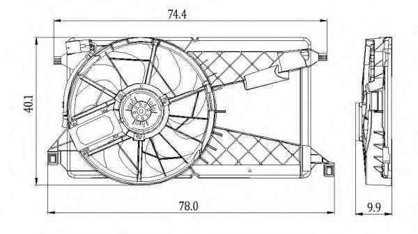 Вентилятор охлаждения двигателя NRF 47291