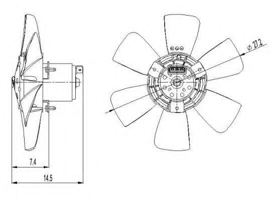Вентилятор охлаждения двигателя NRF 47390