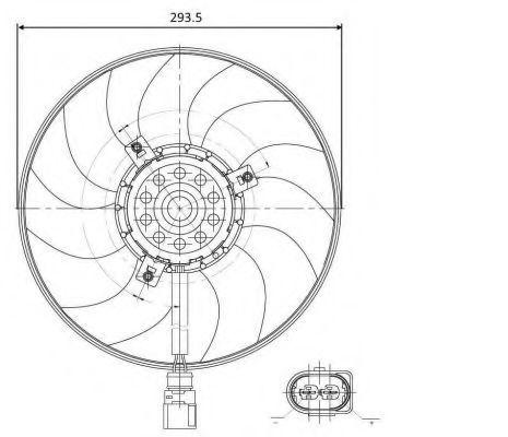 Вентилятор охлаждения двигателя NRF 47395
