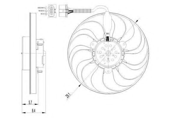 Вентилятор охлаждения двигателя NRF 47398