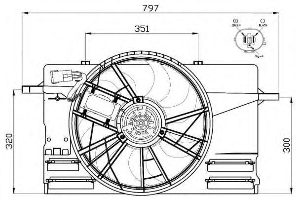 Вентилятор охлаждения двигателя NRF 47412