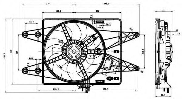 Вентилятор охлаждения двигателя NRF 47430