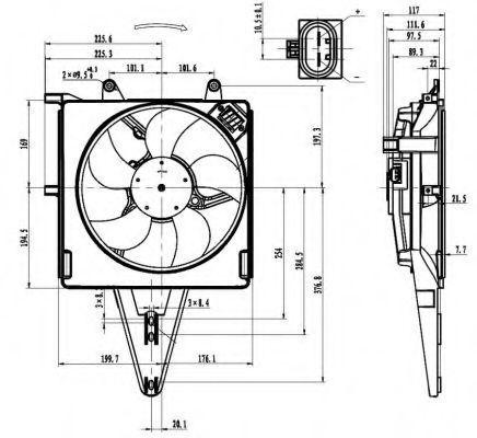 Вентилятор охлаждения двигателя NRF 47431