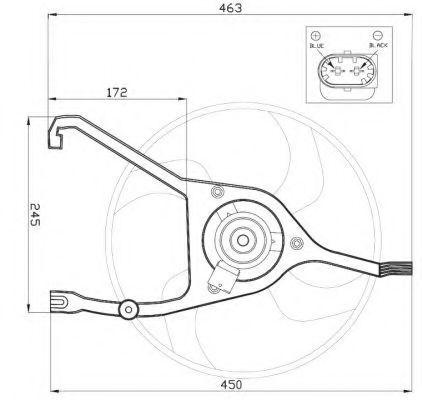 Вентилятор охлаждения двигателя NRF 47448