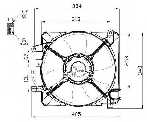 Вентилятор, охлаждение двигателя NRF 47449