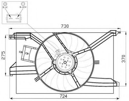 Вентилятор охлаждения двигателя NRF 47458