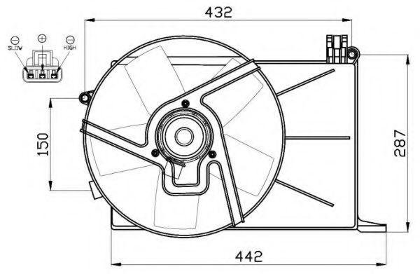 Вентилятор охлаждения двигателя NRF 47459