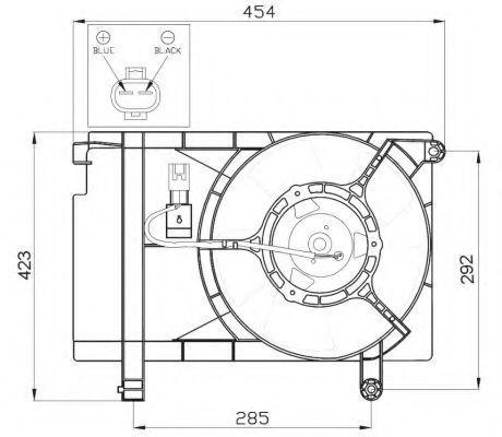 Вентилятор охлаждения двигателя NRF 47471