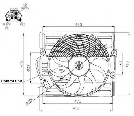 Вентилятор, охлаждение двигателя NRF 47481