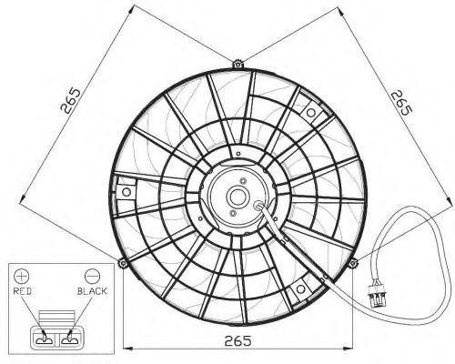 Вентилятор охлаждения двигателя NRF 47483